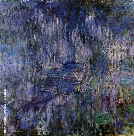 Reproduction of The Water Lilies Reflections of Weeping Willows 1919_862 by Claude Monet | Oil Painting Replica On CanvasReproduction Gallery