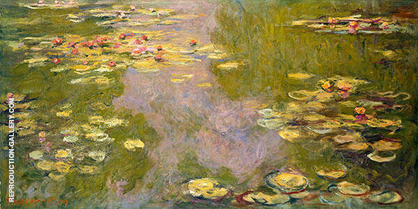 Reproduction of Water Lilies Pond 1925_983 by Claude Monet | Oil Painting Replica On CanvasReproduction Gallery