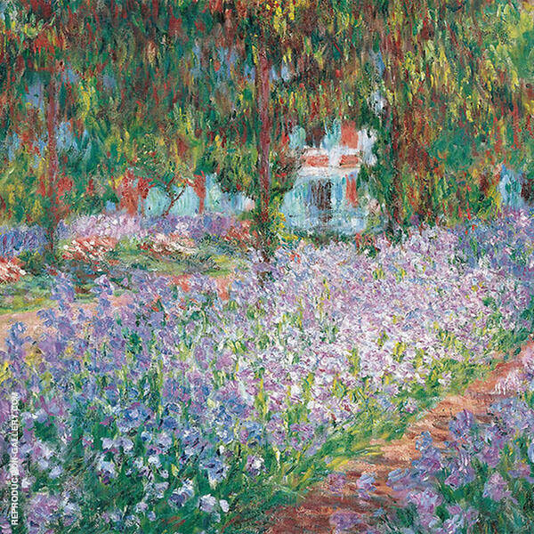 The Artist's Garden Giverny 1900 Painting By Claude Monet