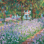 The Artist's Garden Giverny 1900 By Claude Monet