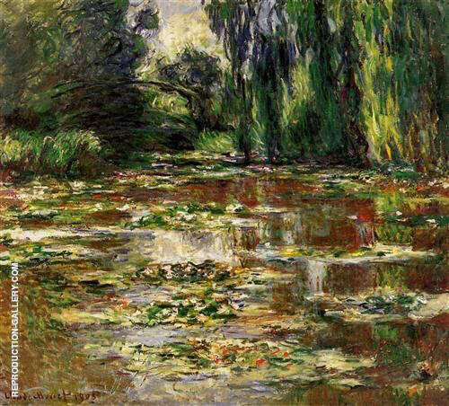 The Bridge over The Lily Pond 1905_668 By Claude Monet Replica Paintings on Canvas - Reproduction Gallery
