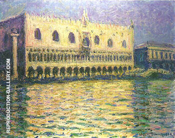 Palazzo Ducale 1908_742 By Claude Monet - Oil Paintings & Art Reproductions - Reproduction Gallery