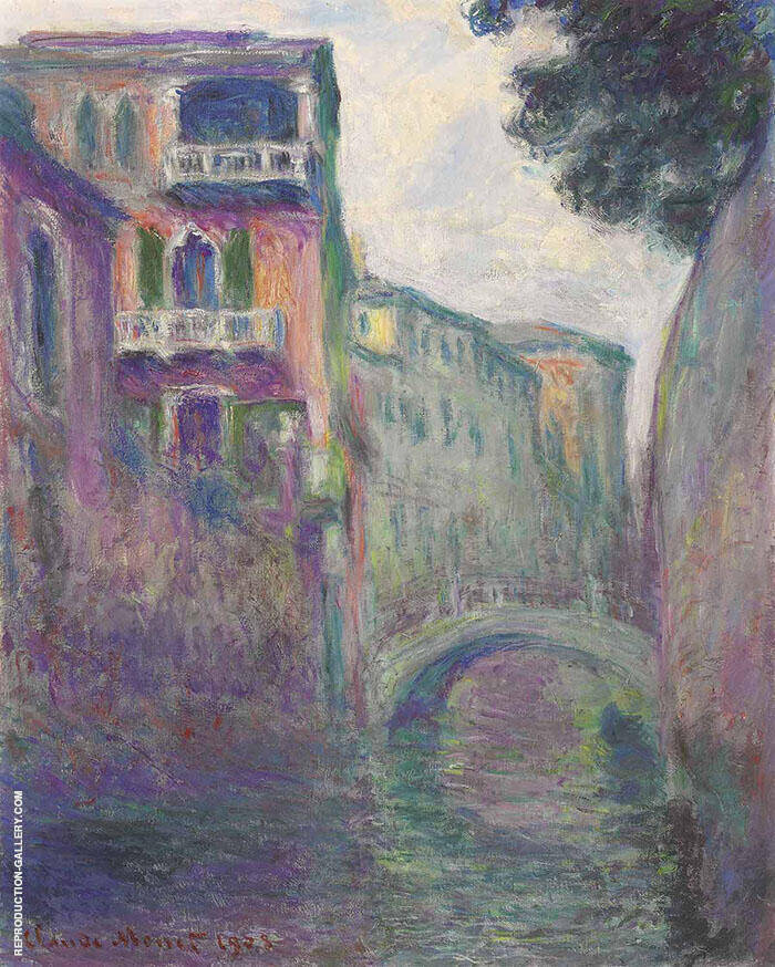 The Rio della Salute 1908 Painting By Claude Monet - Reproduction Gallery