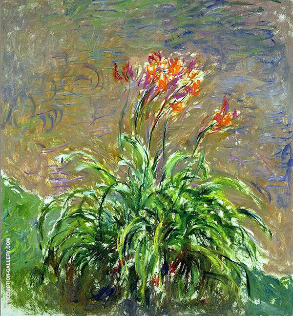 Hamerocallis c1917 Painting By Claude Monet - Reproduction Gallery