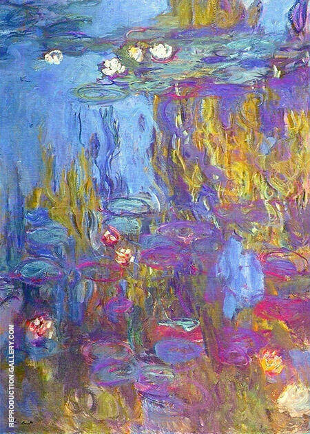 Reproduction of Water Lilies 1917_799 by Claude Monet | Oil Painting Replica On CanvasReproduction Gallery