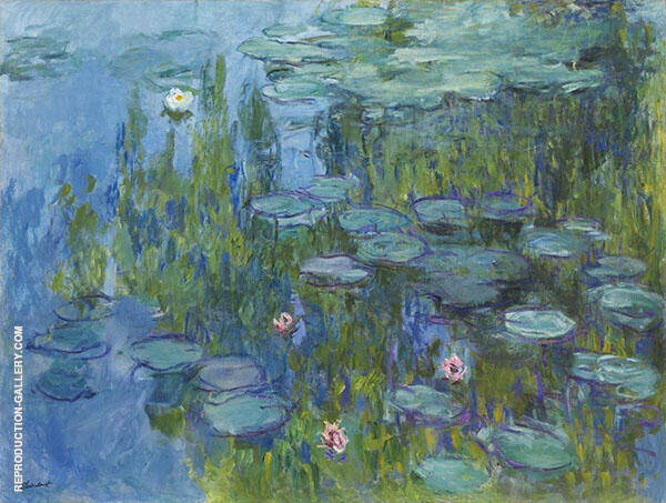 Water Lilies c1915 Painting By Claude Monet - Reproduction Gallery