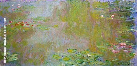 The Water Lily Pond 1919 886 By Claude Monet - Oil Paintings & Art Reproductions - Reproduction Gallery