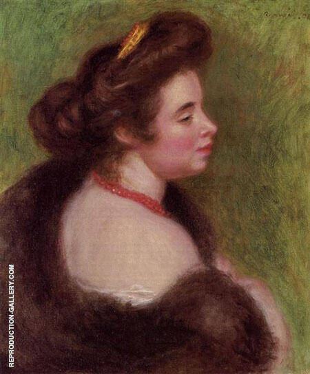 Reproduction of Madame Maurice Denis 1904 by Pierre Auguste Renoir | Oil Painting Replica On CanvasReproduction Gallery