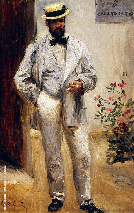 Charles Le Coeur 1871 By Pierre Auguste Renoir - Oil Paintings & Art Reproductions - Reproduction Gallery