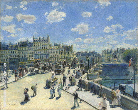 The Pont Neuf 1872 By Pierre Auguste Renoir