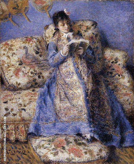 Camille Monet Reading 1873 By Pierre Auguste Renoir - Oil Paintings & Art Reproductions - Reproduction Gallery