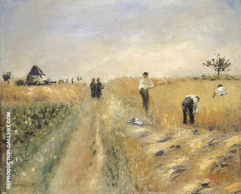 The Harvesters 1873 By Pierre Auguste Renoir - Oil Paintings & Art Reproductions - Reproduction Gallery