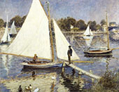 The Seine at Argenteuil 1874 By Pierre Auguste Renoir