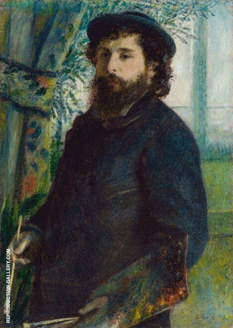 Claude Monet at His Easel 1875 By Pierre Auguste Renoir Replica Paintings on Canvas - Reproduction Gallery