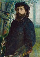 Claude Monet at His Easel 1875 By Pierre Auguste Renoir