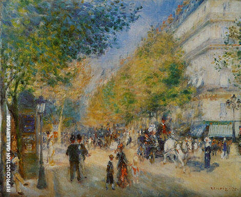 Les Grands Boulevards 1875 By Pierre Auguste Renoir