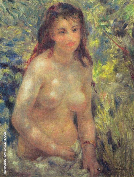 Study Nude in Sunlight 1875 By Pierre Auguste Renoir