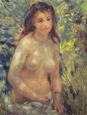 Study Nude in Sunlight 1875 By Pierre Auguste Renoir