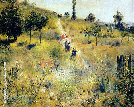 Path Rising through Tall Grass c1875 By Pierre Auguste Renoir