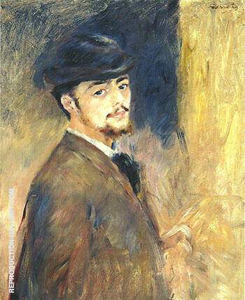 Portrait of a Man c 1875 By Pierre Auguste Renoir