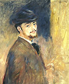 Portrait of a Man c 1875 By Pierre Auguste Renoir