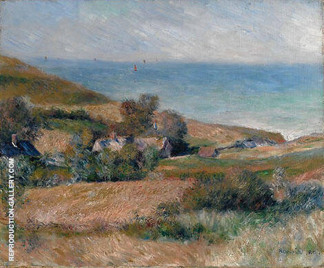 View of the Coast near Wargemont 1880 By Pierre Auguste Renoir Replica Paintings on Canvas - Reproduction Gallery