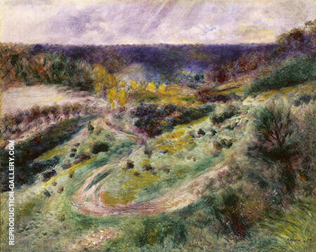 Landscape at Wargemont 1879 Painting By Pierre Auguste Renoir