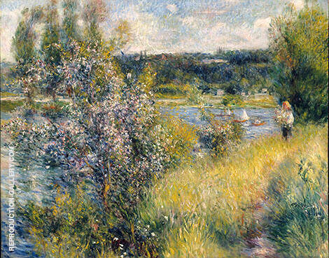 The Seine at Chatou c1882 By Pierre Auguste Renoir
