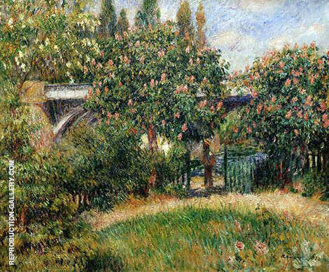 The Railway Bridge at Chatou 1881 By Pierre Auguste Renoir Replica Paintings on Canvas - Reproduction Gallery