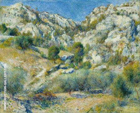 Rocky Crags at L Estaque 1882 By Pierre Auguste Renoir - Oil Paintings & Art Reproductions - Reproduction Gallery