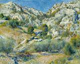 Rocky Crags at L Estaque 1882 By Pierre Auguste Renoir