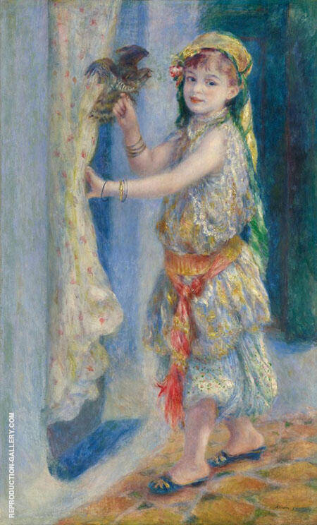 Mademoiselle Fleury in Algerian Costume 1882 By Pierre Auguste Renoir - Oil Paintings & Art Reproductions - Reproduction Gallery