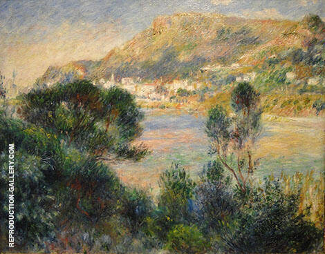 View of Cape Martin at Monte Carlo 1883 By Pierre Auguste Renoir