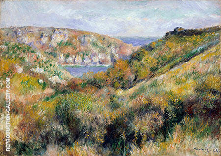 Hills around the Bay of Moulin Huet Guernsey 1883 By Pierre Auguste Renoir