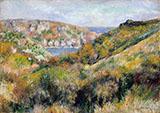 Hills around the Bay of Moulin Huet Guernsey 1883 By Pierre Auguste Renoir