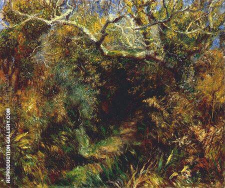 Mediterranean Landscape c1883 By Pierre Auguste Renoir