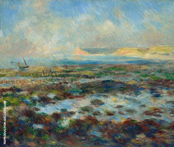 Low Tide at Yport 1883 By Pierre Auguste Renoir