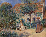 Garden Scene in Brittany 1886 By Pierre Auguste Renoir