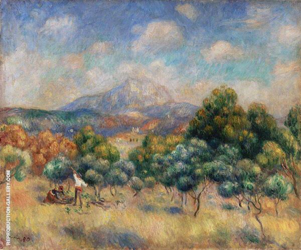 Montagne Sainte Victoire Paysage 1889 By Pierre Auguste Renoir