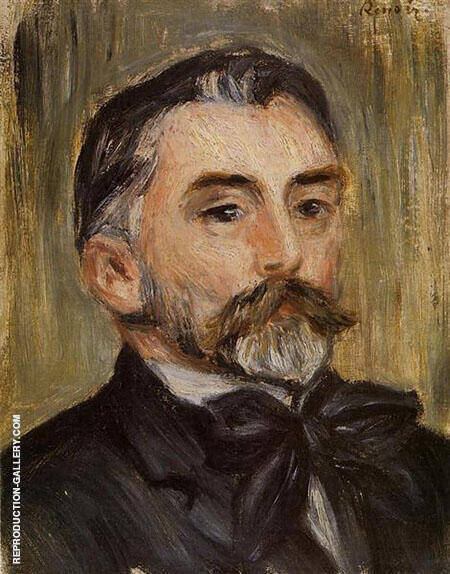 Stephane Mallarme 1892 By Pierre Auguste Renoir - Oil Paintings & Art Reproductions - Reproduction Gallery