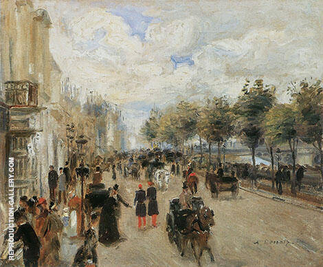 Reproduction of Paris Quai Malaquais c1874 by Pierre Auguste Renoir | Oil Painting Replica On CanvasReproduction Gallery