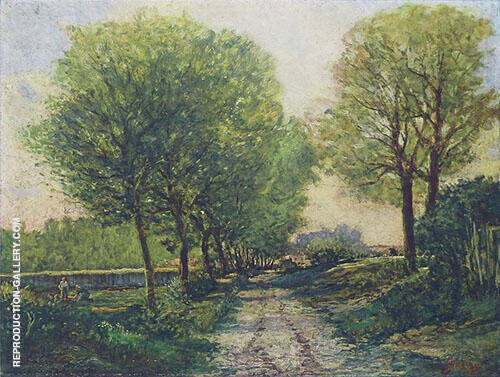 Lane near a Small Town 1864 By Alfred Sisley Replica Paintings on Canvas - Reproduction Gallery