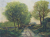 Lane near a Small Town 1864 By Alfred Sisley