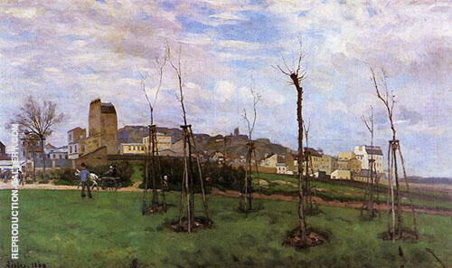View of Montmarte from the cite des Fleurs 1869 By Alfred Sisley Replica Paintings on Canvas - Reproduction Gallery