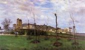 View of Montmarte from the cite des Fleurs 1869 By Alfred Sisley