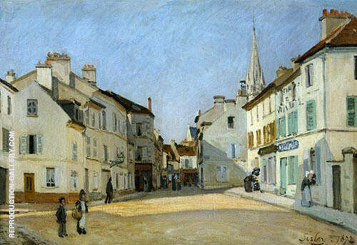 Square in Argenteuil 1872 Painting By Alfred Sisley - Reproduction Gallery