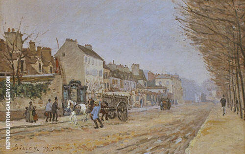 Boulevard Heloise Argenteuil 1872 Painting By Alfred Sisley