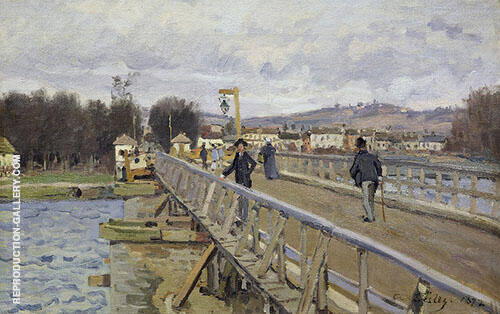 Footbridge at Argenteuil 1872 By Alfred Sisley Replica Paintings on Canvas - Reproduction Gallery