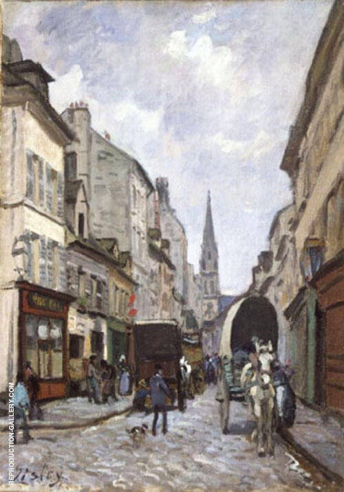 La Grande Rue Argenteuil By Alfred Sisley Replica Paintings on Canvas - Reproduction Gallery