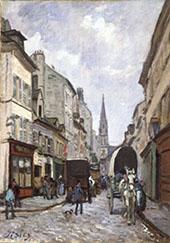 La Grande Rue Argenteuil By Alfred Sisley